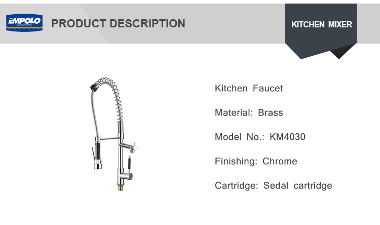 Spiral Kitchen Faucet Hose Hot And Cold Water Mixing Spring Pull Down Pull Out Flexible Kitchen Faucet