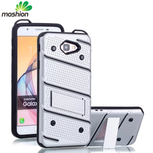 Hot Selling 2 in 1 TPU PC case armor cell phone Belt Clip sliding kickstand shockproof cover for samsung galaxy j7 prime