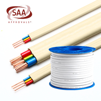 Manufacturer Electrical Wire Flat Cable 2 core 3 core 1.5 2.5 4sqmm Jacket PVC Wire and Cable
