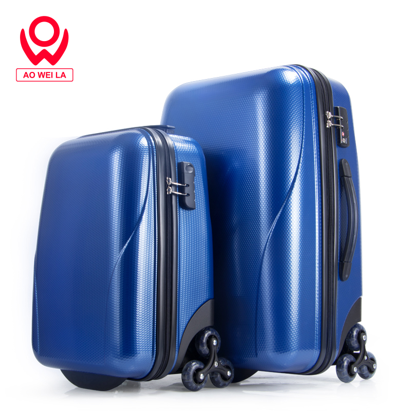 Aoweila Hot-Selling 18 Inches Hardcase Lightweight Cabin Luggage,Weightless Luggage Bags