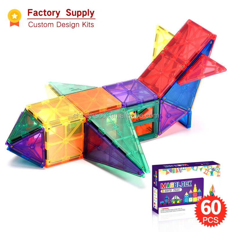 Amazon Hot Selling 2020 ABS Magnet Building tiles 3D Toys  48pcs 78pcs 120pcs Magnetic Building tiles
