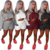 2 Piece Set Women Winter Clothing Outfits Long Sleeve Knit Sweater Batwing Tops + Bodycon Shorts Suit Sexy Matching Sets