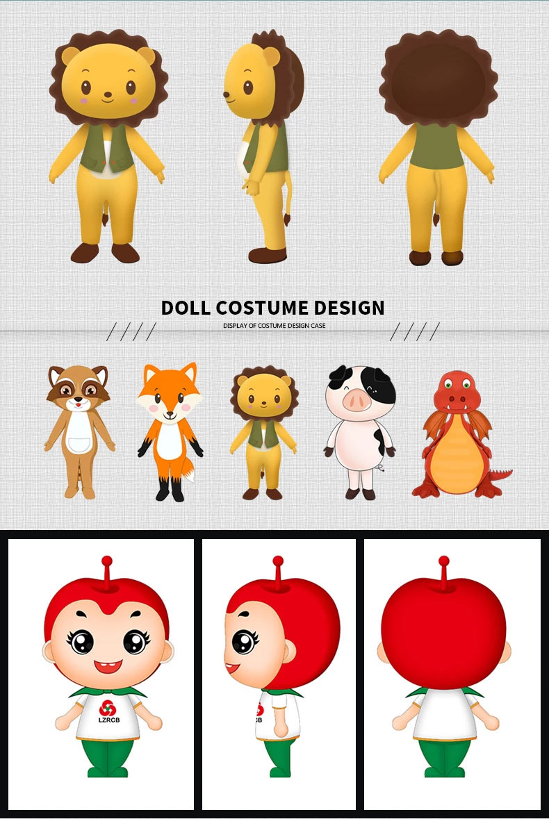 Cartoon image toy design plush animal character doctor doll original mascot brand design soft plush toy