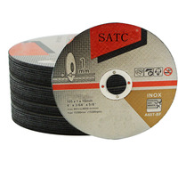 SATC Abrasive tools cutting discs for stainless steel,inox ,cutting disc grinding wheel 105*1*16mm