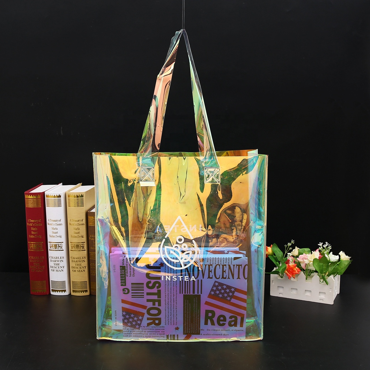 Laser Clear Pvc Tote bag Transparent Seaside Beach Bag