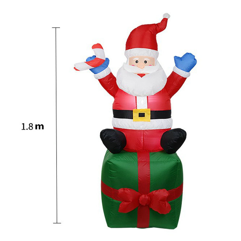 Christmas light santa claus gift box <strong>inflatables</strong> for home decor