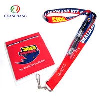 Factory brand cheap id card holder lanyards with logo custom polyester