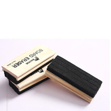 Customized felt blackboard eraser for whiteboard with wood back cover