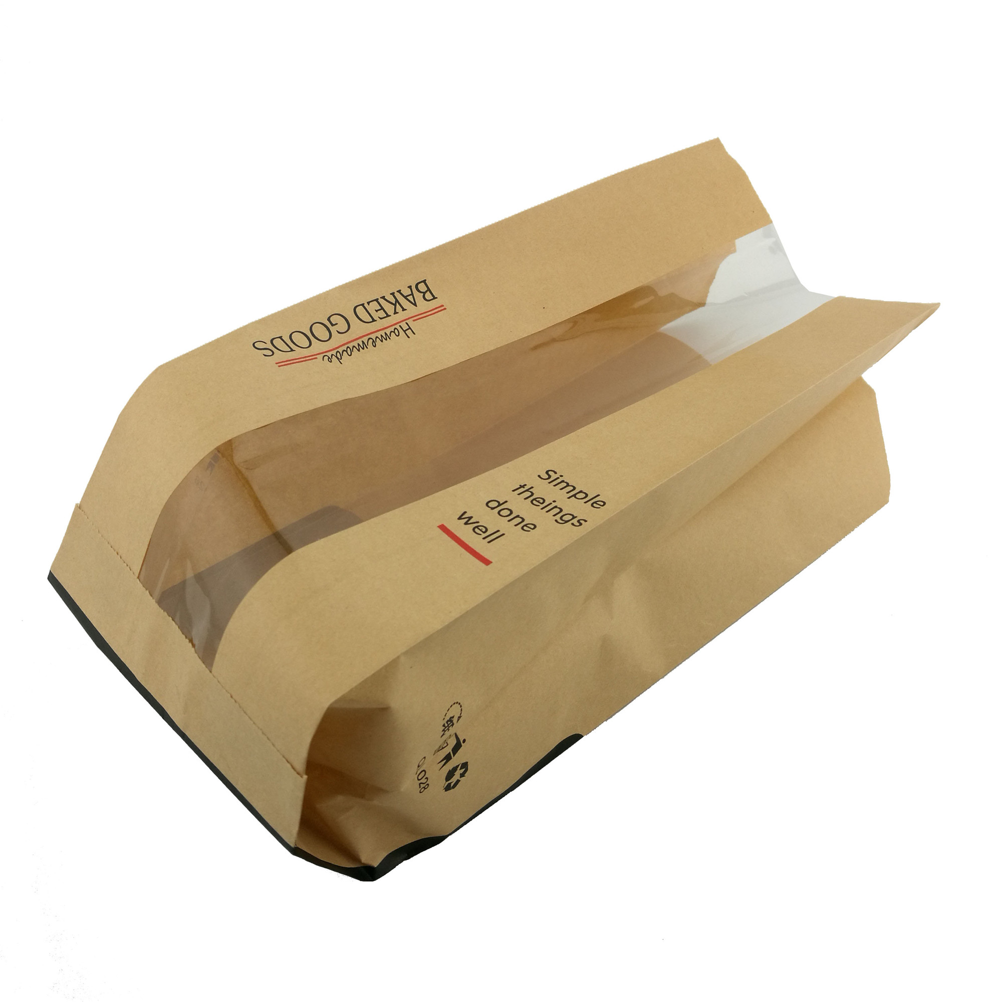 Personalized custom kraft paper bread bag for bread paper bread bag