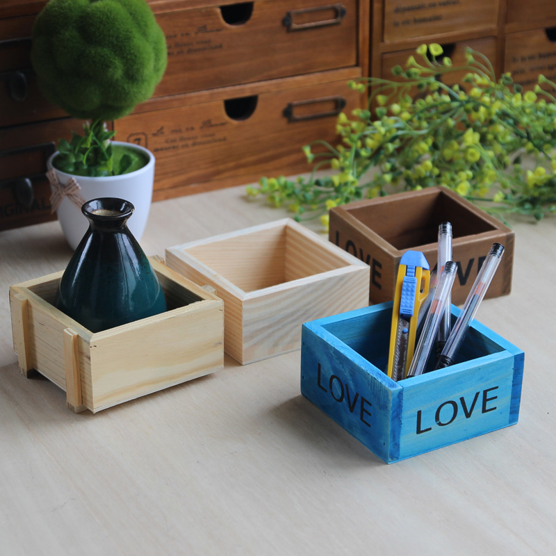 Creative Household Succulent Plant Flowerpot Wooden Box Farmhouse