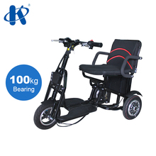 folding disability electric handicap three wheel scooter foldable elderly heavy duty disabled 3 wheeled mobility scooter