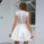 Weixin Shein Womens Clothing Sexy Summer Fashion Sleeveless Halter Knotted Lace Skater Party New Design Dress