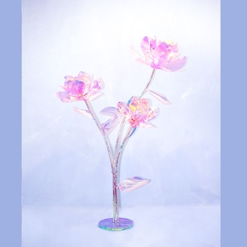 led flower 3heads use mall Cloth window 150cm height winter jasmine magnolia flower Party Supplies wedding decoration
