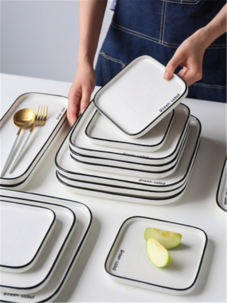 Simple modern cheap price 8 inch hotel catering serving plates ceramic porcelain plate