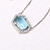 Gemstone Jewelry Topaz White Gold 925 Sterling Silver Jewellery Necklace