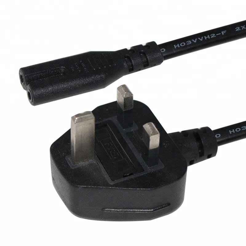 Bsi Standard Custom Fuse 3PIN Connector Ac Iec 60320 Figure 8 Female End Computer Uk Plug C7 Power Cord Cable