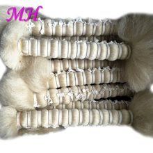 Washed Black White Grey Yak Cow Cattle Tail Hair Fishing Lure Line Hair Artifical Hair for Braiding