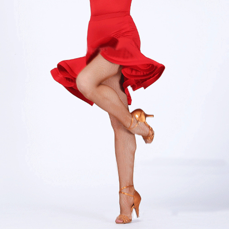 modern jazz salsa dance irregular skirt dress