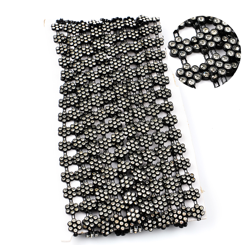 SS6 SS8 SS12 Crystal Rhinestone Diamante Chain Trim