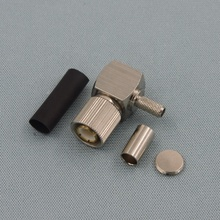 1.6/5.6 Male Right Angle Crimp Connector For Flex-3 Cable
