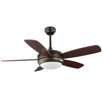 Modern Black Kdk Dark Walnut Aeratron Tropical Vintage Led Ceiling Fan With Bright LED Light 5 Plywood Blade