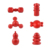 Custom Wholesale New Design Pet Paradise Red Tpr Durable Water Floating Strong Barbell Dog Toy