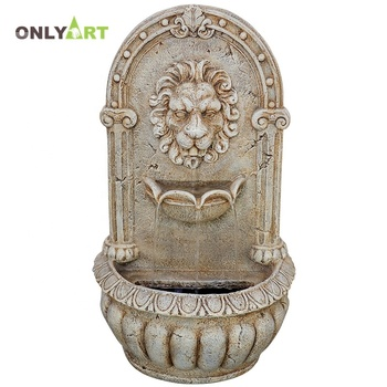 Hot selling luxury stone carved garden marble wall water fountain