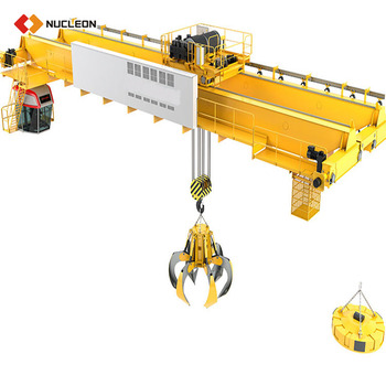 High Quality 5 10 20 Ton Grab Bucket Double Beam Overhead Cranes For Sale
