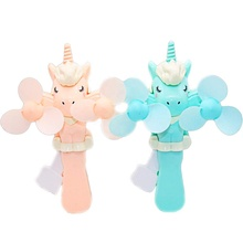 Unicorn Toy Fans Portable Handheld Hand Pressure Manual Personal Fans for <strong>Kids</strong> No Batteries are Needed