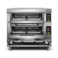 Electric double deck oven built in toaster oven
