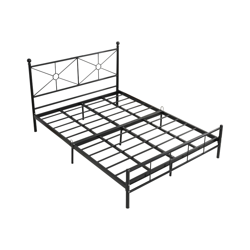 The newest design in steel big size double metal bed