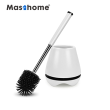 Masthome Highly efficient soft TPR Bathroom Clean <strong>Brush</strong> plastic Toilet silicon bowl <strong>brush</strong> set with holder
