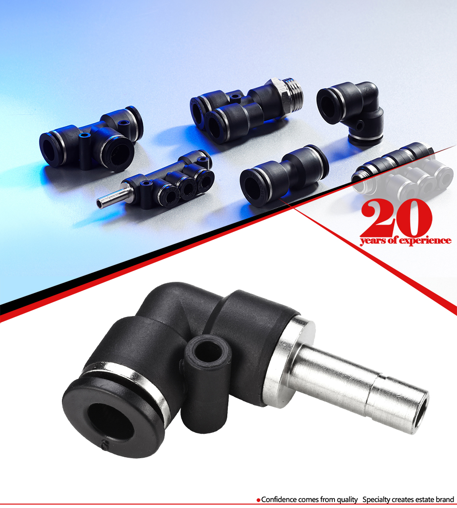 Push in Pneumatic quick fitting connectors  Plastic air adapters