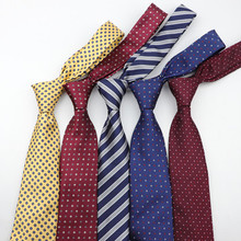 Classic Stripe skinny Neck <strong>Tie</strong> 8CM Men's Formal Jacquard business wedding <strong>tie</strong>