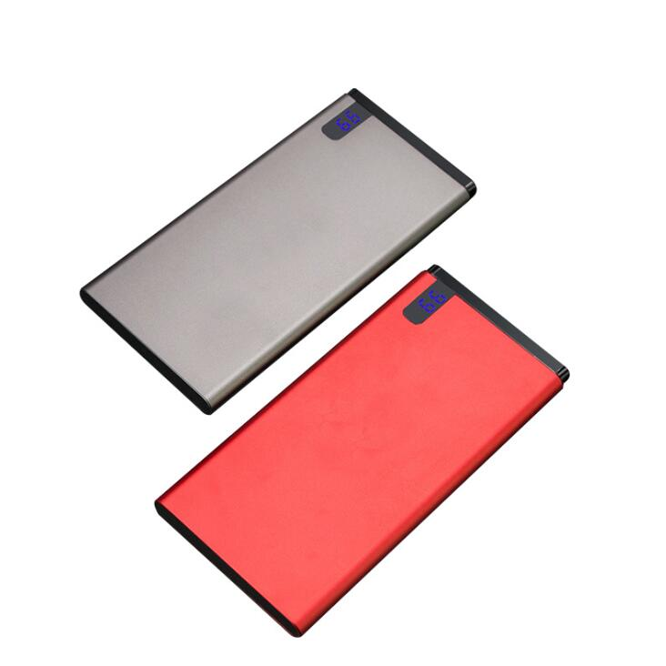 Promotion Gift Metal Ultrathin Portable Mobile Charger Power Bank 10000mAh