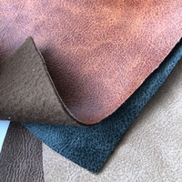 Two tone color embossed release paper synthetic leather for sofa and polyester leather guangzhou PU factory production