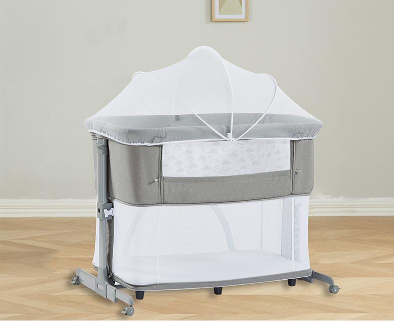 2020 New EN1130 Travel Comfortable Fabric Baby Bassinet Portable