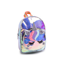 Kids transparent pvc school bag unicorn <strong>backpack</strong>