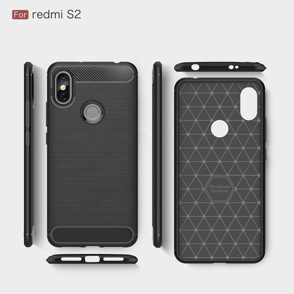 Viseaon Original Brands Wholesale Back Case Cover carbon fiber case For Xiaomi Redmi S2 <strong>y2</strong>