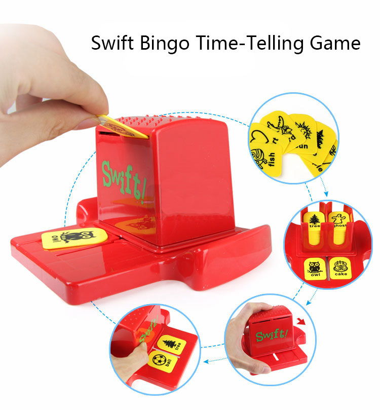 2020 Amazon Hot Selling Bingo Zingo Family Words Matching Board Game Puzzle Educational Toys With Box Package  for Kids'  Gift