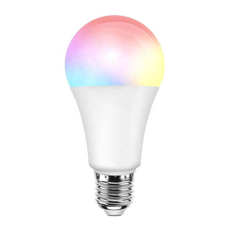 Alexa Google Intelligent LED Light <strong>Bulb</strong> Wifi 9W RGB+CW+WW For Smart Home Tuya APP Phone Control