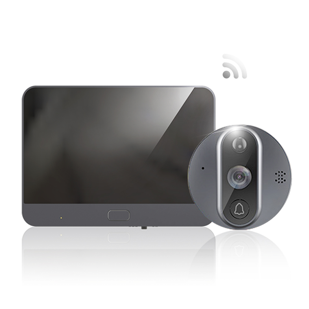 HQCAM Tuya Doorbell Peephole Door Camera <strong>Wifi</strong> Doorbell Video Intercom 4.3&quot; LCD Motion Detection Video-eye Viewer Wireless Ring