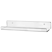 Modern Clear Acrylic Floating Wall Ledge <strong>Shelf</strong>,Wall Mounted Kids Bookshelf,Clear Bathroom Storage <strong>Shelves</strong> Display Organizer