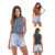 Fashion casual ribbed knit stripes woman shirts and blouses camisole women crop top