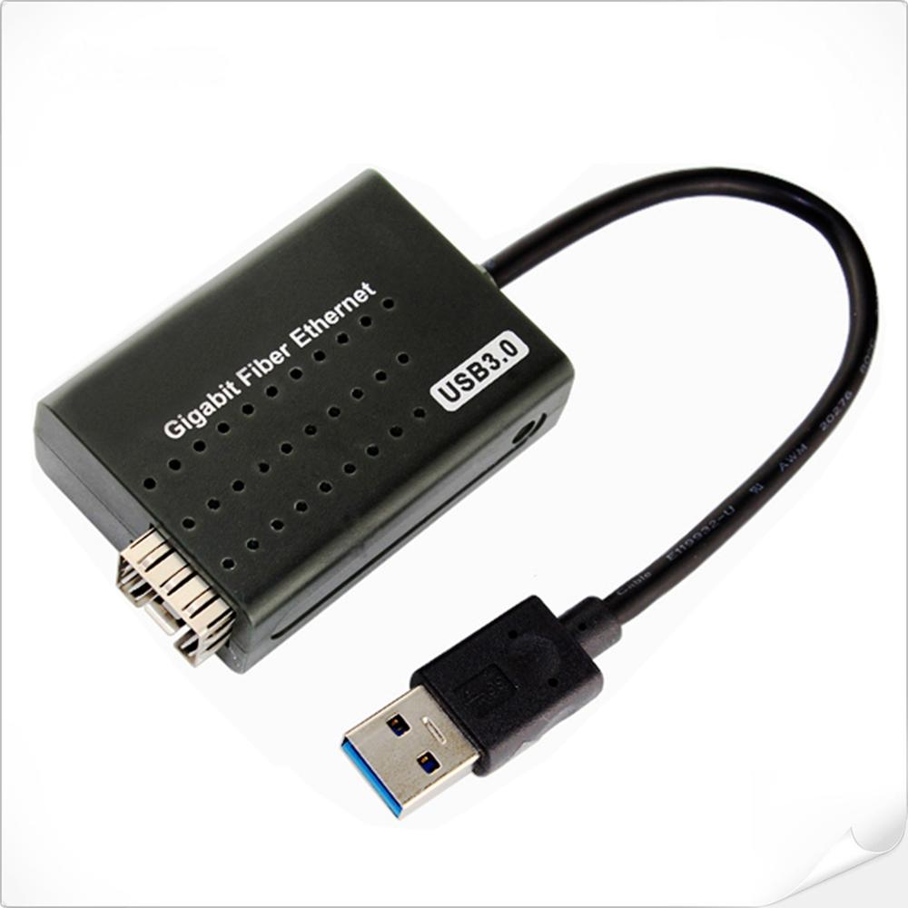 Supports external SFP <strong>modules</strong> USB3.0 to Gigabit Fiber Ethernet Media Converter