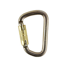 40KN yellow alloy steel mountaineering <strong>safety</strong> carabiner hook