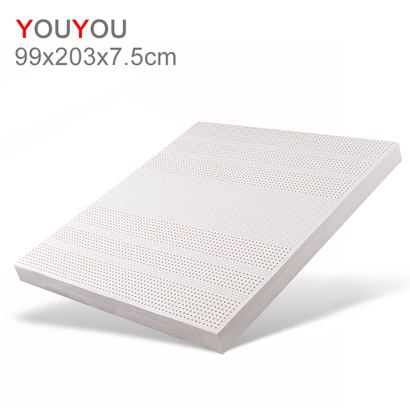 Custom Wholesale Hotel Thailand Natural Latex Mattress memory massage 99x203x7.5cm ergonomic small children Mattress - Jozy Mattress | Jozy.net