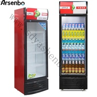 Single glass door slim drink refrigerator promotional customized fridge commercial gas refrigerators with newest style