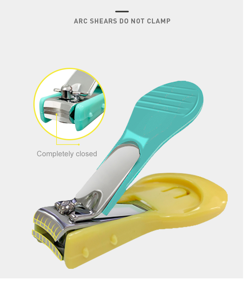 Cute Safe Stainless Steel Plastic Nail Cutter For Baby