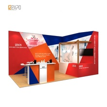 IZEXPO 30mins save time &amp; money stand trade <strong>10</strong> <strong>x</strong> 20 fair show booth modular wall <strong>system</strong> for exhibition